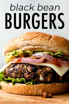 The BEST black bean burgers, grilled or baked! Meat lovers went crazy for these veggie burgers. Lots of flavor with a sturdy, meaty texture. Grill or bake the black bean burgers! Garlic Recipes, Veggie Recipes, Vegetarian Recipes, Cooking Recipes, Healthy Recipes, Best Vegan Burger Recipe, Vegan Black Bean Recipes, Homemade Vegan Burgers, Vegan Bean Burger