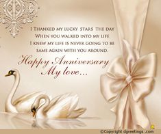 Let your significant other know how blessed you feel this anniversary. Anniversary Wishes For Him, Happy Wedding Anniversary Wishes, Romantic Anniversary, Anniversary Cards, Happy Anniversery, Blessed, Trust God, Baby Photos, Retirement