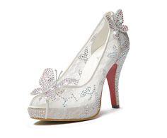 Zapatos de la boda de la mariposa 11 CM de tacón alto elegantes zapatos de cuero genuino tacones altos para mujer del alto talón zapatos(China (Mainland))
