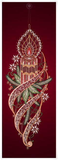 Fensterbild mit Weihnachtskerzen Motiv