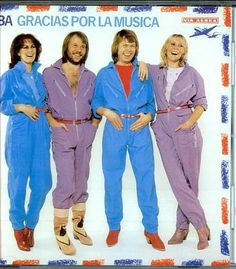 ABBA in industrial style jumpsuits (1980)