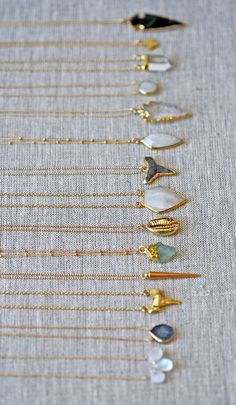 nice gold chains all lined up | kei jewelry... by post_link …
