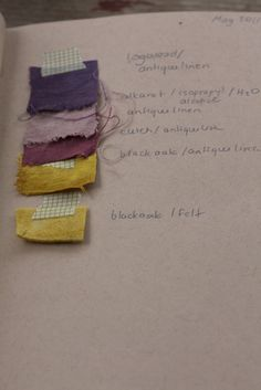 """dye journal - margie oomen  Find alkenet root and other natural dyes in """"the woolery"""" at www.thespeckledduckling.com"""