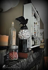 Crow's Feet Chic: Halloween Mantle