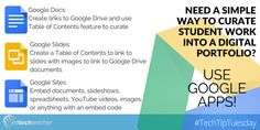 #TechTipTuesday: How to Use #GAFE for Digital Portfolios. Learn more from Avra Robinson: http://edtechteacher.org/using-google-apps-for-education-to-create-digital-portfolios-from-avra-robinson/