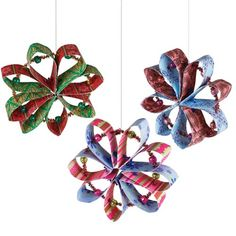 United Art and Education Art Project: It just takes a few sheets of decorative paper, a Chenille stem and some pony beads to create this pretty Patterned Paper Holiday Ornament!