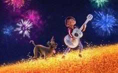 Descargar fondos de pantalla Miguel, Dante, 4k, Coco, 3d-animación de 2017, la Película de Pixar, Disney