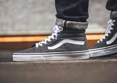 sweetsoles: Vans Sk8-Hi Tweed (by Titolo) Get it at Vans US / End Clothing / ASOS