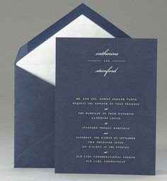 #navy invitation #retro wedding ... Wedding ideas for brides, grooms, parents & planners ... https://itunes.apple.com/us/app/the-gold-wedding-planner/id498112599?ls=1=8 … plus how to organise an entire wedding, without overspending ♥ The Gold Wedding Planner iPhone App ♥