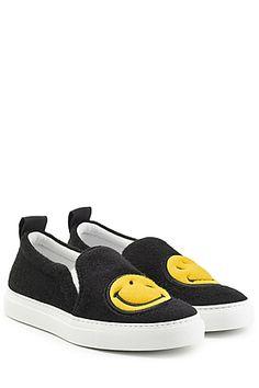 JOSHUA SANDERS  Felted Wool Slip-On Sneakers | STYLEBOP.com