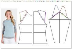 моделирование свитшота с рукавом реглан
