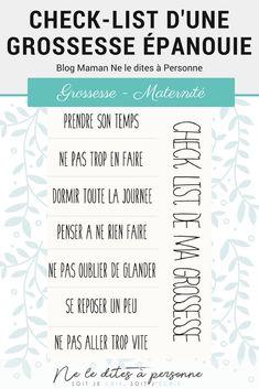 Check list d'une grossesse épanouie - Blog Maman Bordeaux Ne le dites a personne