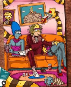 I can't wait for the Simpsons Halloween episode. Cartoon Kunst, Cartoon Art, The Simpsons, Simpsons Characters, Simpsons Halloween, Ps Wallpaper, Simpsons Drawings, Horror House, Character Design