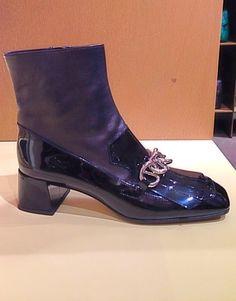Boot by @Prada #Prada #boot #patentleather #FolliFollie #FW14collection