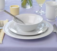 PB White Dinnerware from Pottery Barn - LOVE IT!