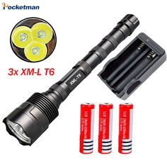 9000Lumen LED Flashlight CREE 3T6 Power 5 Mode Torch Lamp Light Led Light For Camping Hunting Fishing Waterproof Tactical Torche(China (Mainland))