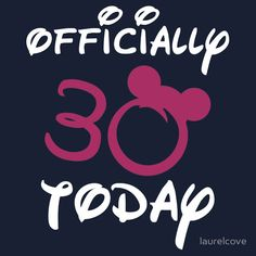 Disney 30th Birthday - Available as T-Shirts & Hoodies, Stickers, and Drawstring Bags