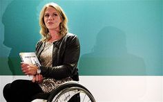 Wheelchair tennis champion Esther Vergeer released an autobiography to coincide with her retirement announcement; she read from the book, through teary eyes, as she let the world know her plans.