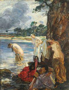 Lucien Simon Bigoudènes à la plage ca 1909
