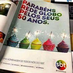 Tenho muito orgulho de fazer parte dessas duas Famílias! Sou um cara abençoado. Parabéns #Globo50anos e Vô você é D+