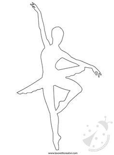 cartamodelli pannolenci ballerina danza
