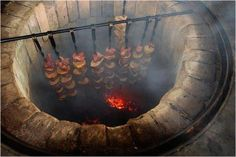 """Did you know? Traditional Armenian bbq is made inside of a """"Tonir"""" - a cylindrical clay oven used in cooking and baking. This is called """"Tonri Xorovac"""" !"""