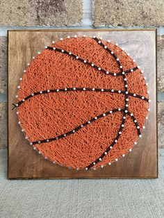 Custom Made to Order Basketball String Art