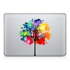 kwmobile Design rainbow tree Decal sticker for Apple MacBook Air 13 / Pro Retina 13 / Pro 13 skin foil Apple Laptop, Mac Laptop, Laptop Skin, Skin Macbook Pro, Macbook Air 13, Tree Decals, Xbox Console, Computer Case, Laptop Accessories