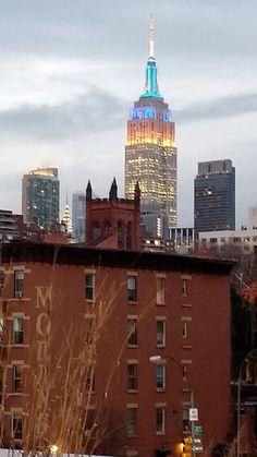 Empire State visto desde High Line en New York