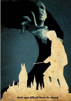 Harry Potter ~ Minimal Movie Poster by Edward Lim