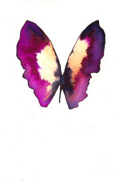 magenta and black butterfly with white gold original watercolour and ink painting. via Etsy. Butterfly Painting, Butterfly Watercolor, Watercolor And Ink, Watercolour Painting, Butterfly Name Tattoo, Butterfly Tattoo Designs, Purple Butterfly, Butterfly Art, Lupus Tattoo