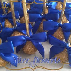 Royal Blue and Gold Cake Pops