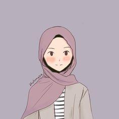 Cute Little Drawings, Cute Girl Drawing, Cute Drawings, Character Art, Character Design, Hijab Drawing, Islamic Cartoon, Anime Muslim, Cute Pastel Wallpaper