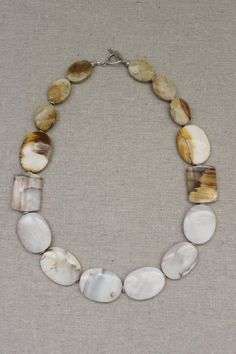 Winter white stone necklace. Rare white by StarsonMarsJewelryCo