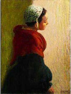 Roderic O'Connor – La Jeune Bretonne national Gallery of ireland, Dublin Portraits, Portrait Art, Dublin, National Gallery, Irish Art, Love Art, Impressionism, Female Art, Street Art