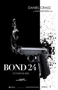 "jamesbondbrasil: ""BOND 24 - Teaser Poster """