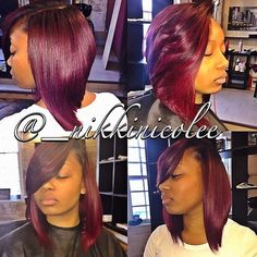 STYLIST FEATURE| This bob cut done by #ChicagoStylist @_NikkiNicolee is so sexy ========================= Go To: www.VoiceOfHair.com =========================  Free eBook on Hairstyles for All Women
