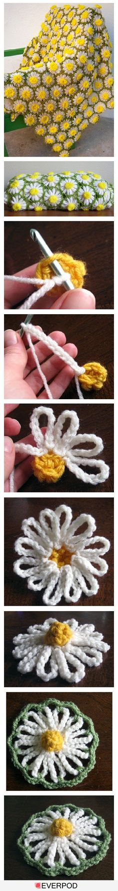 i like this not necessarily for an afghan but for using the daisies on other things, cushions maybe? as a hair clip?