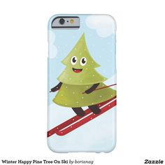 Winter Happy Pine Tree On #Ski Barely There #iPhone 6 Case