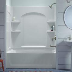 Sterling Ensemble™ 71220110 60W X 74H In. Curve Bathtub. Bathtub Shower  ComboOne Piece ...