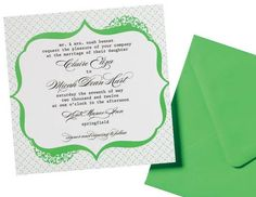 Green Wedding Stationery Ideas