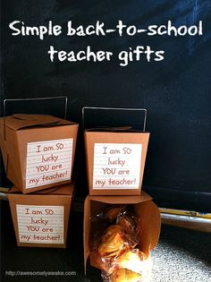Easy back-to-school teacher gifts