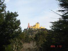 Vista do Chalett da Condessa d ´Edla  para  o palácio da Pena