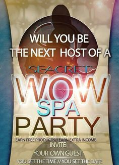 Book your now & invite your friends, earn free product https://www.seacretdirect.com/tracydettafehr