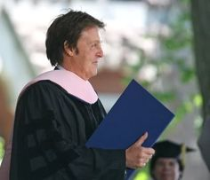 """ON THIS DAY IN ROCK HISTORY:  May 21, 2003.  Sir Paul McCartney is awarded an honorary doctorate in music from the conservatory of Russia's St Petersburg University.  32 years earlier on the same day """"Ram"""" which is credited to Paul and Linda McCartney (not to Wings) was released."""