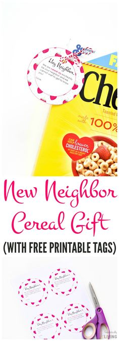 New Neighbor Cereal Gift #ad #GetOneGiveOne #Cheerios #WithLove @Walmart