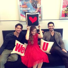 Tyler Posey, Holland Roden and Tyler Hoechlin