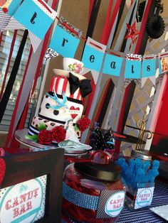 Rockabilly baby shower.... some of the ideas are really cute! like the candy bar