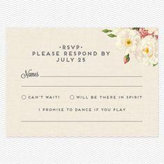 Unique wedding response card wording