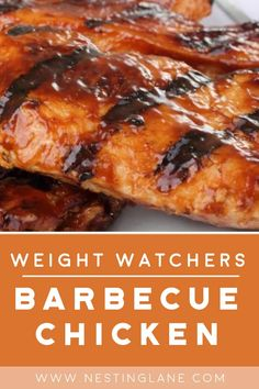 Weight Watchers Barbecue Chicken Recipe with homemade bbq sauce. Ketchup, onion, apricot jam, vinegar, Worcestershire sauce, chili powder, and garlic powder. A tangy, grilled favorite. Quick and easy , ready in 30 minutes. Chicken Kabob Recipes, Chicken Teriyaki Recipe, Barbecue Chicken, Homemade Barbecue Sauce, Barbecue Recipes, Homemade Bbq, Grilling Recipes, Weight Watchers Meal Plans, Weight Watchers Chicken